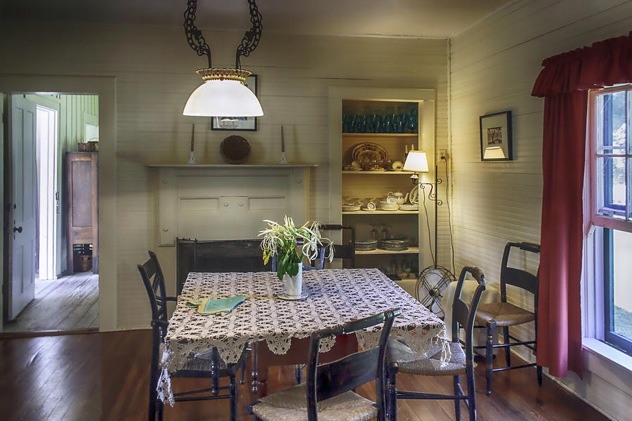 Wooden Table Photograph - Cross Creek Country Dining by Lynn Palmer