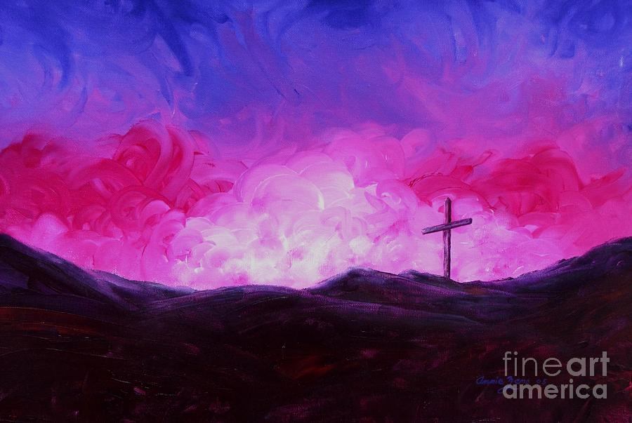 Cross Of Jesus Christ Painting  - Cross Of Jesus Christ Fine Art Print
