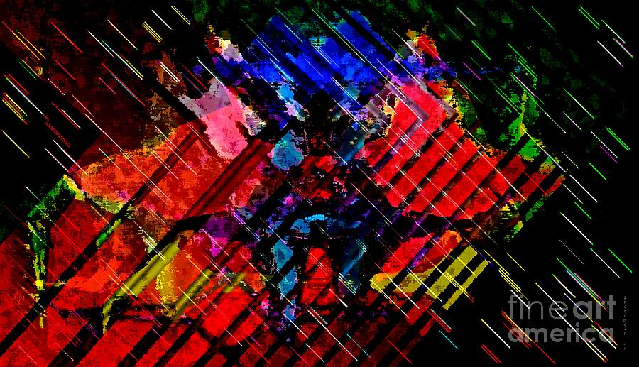 Cross Strokes Digital Art  - Cross Strokes Fine Art Print