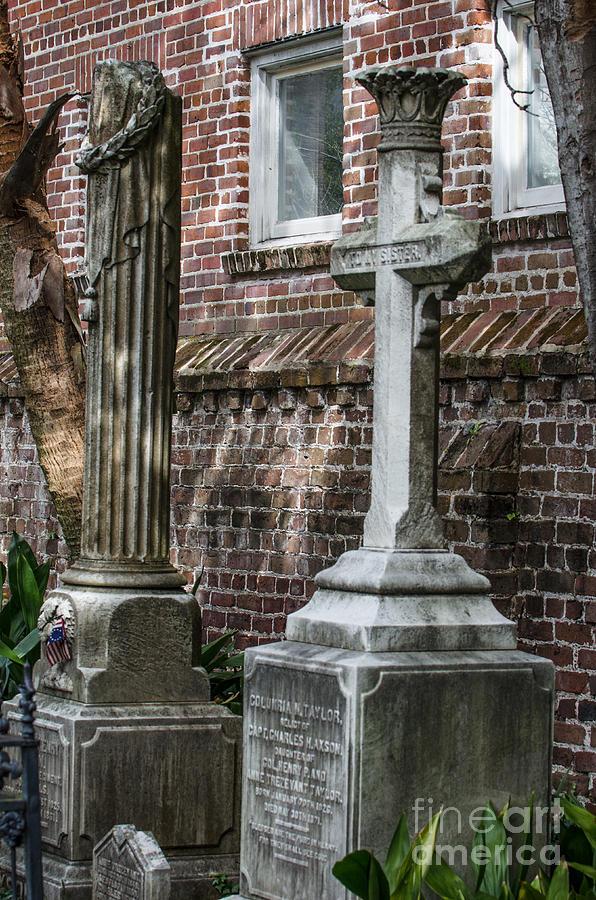 Cross Tombstone Photograph