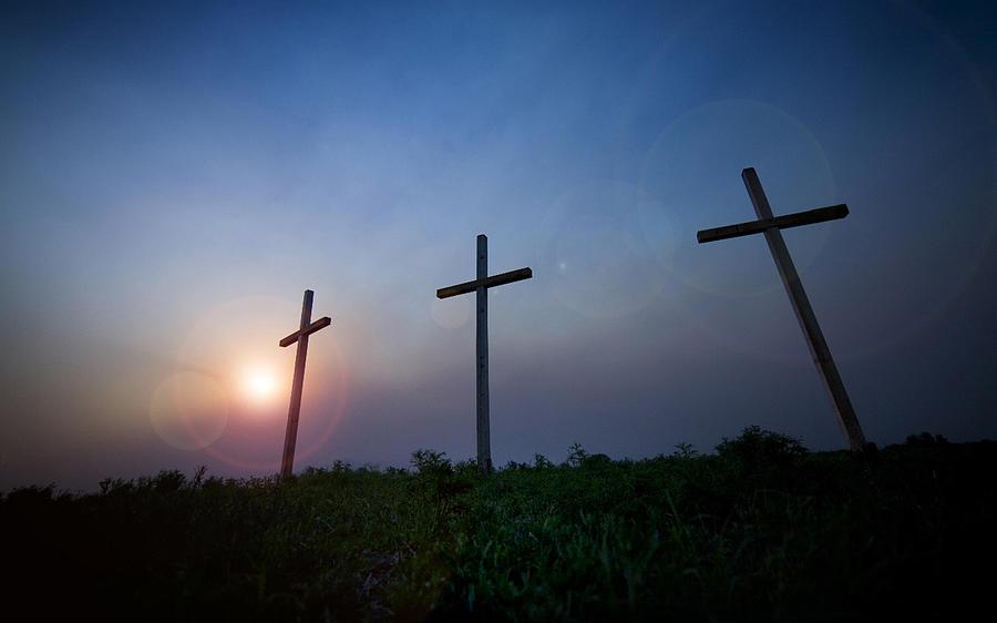 Holy Photograph - Crosses Three by Jeff Klingler