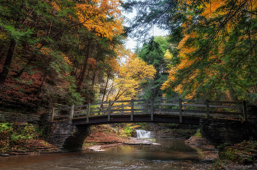 Waterfall Photograph - Crossing Over by Mark Papke