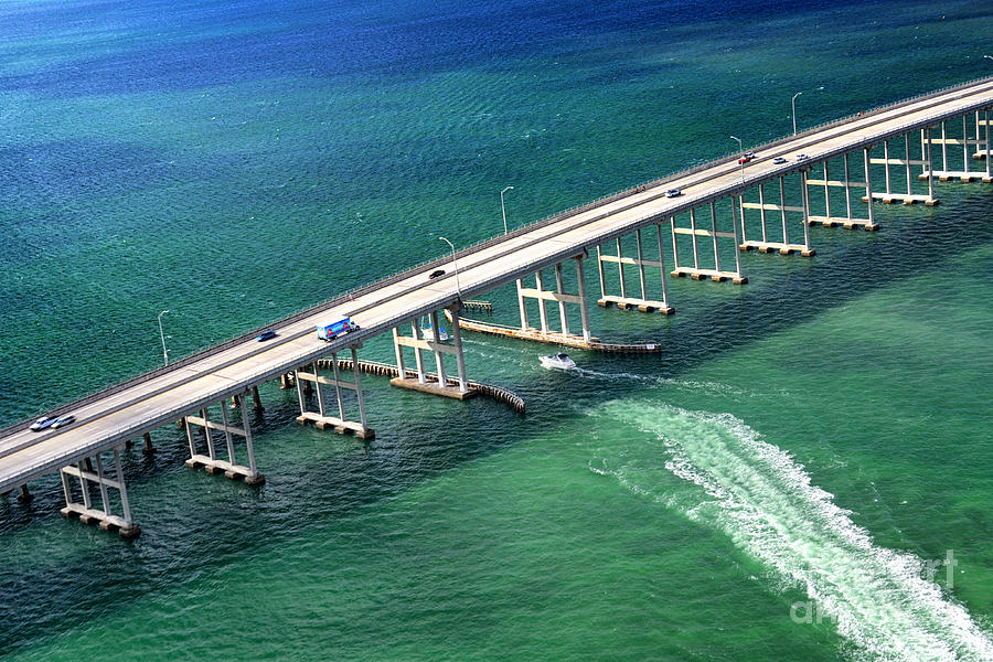 Crossing The Rickenbacker Causeway Photograph