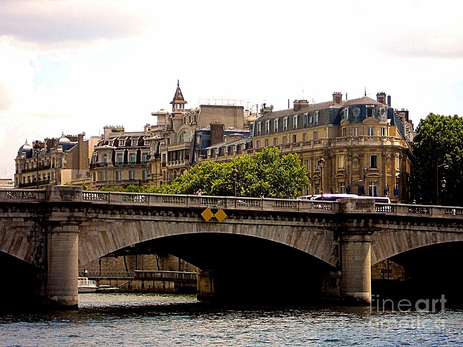 Crossing The Seine Photograph  - Crossing The Seine Fine Art Print