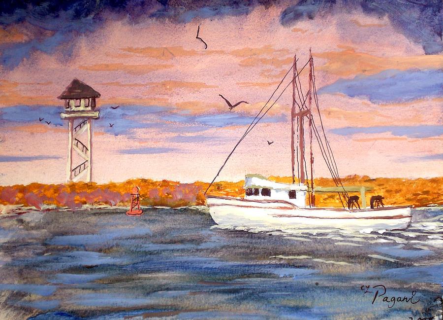 Crossing the tillamook bay bar painting by chriss pagani for Tillamook bay fishing