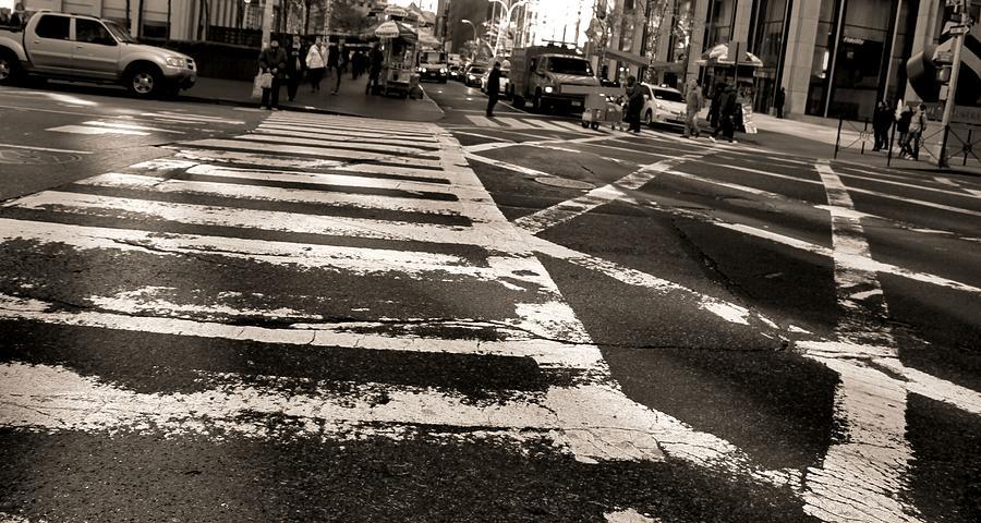 Crosswalk In New York City Photograph