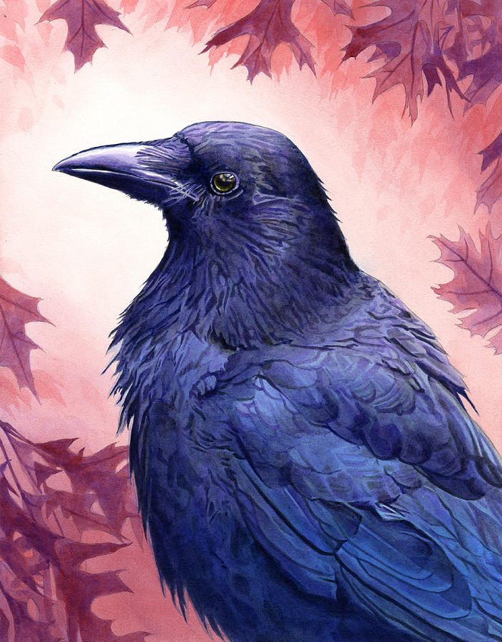 Crow Painting  - Crow Fine Art Print