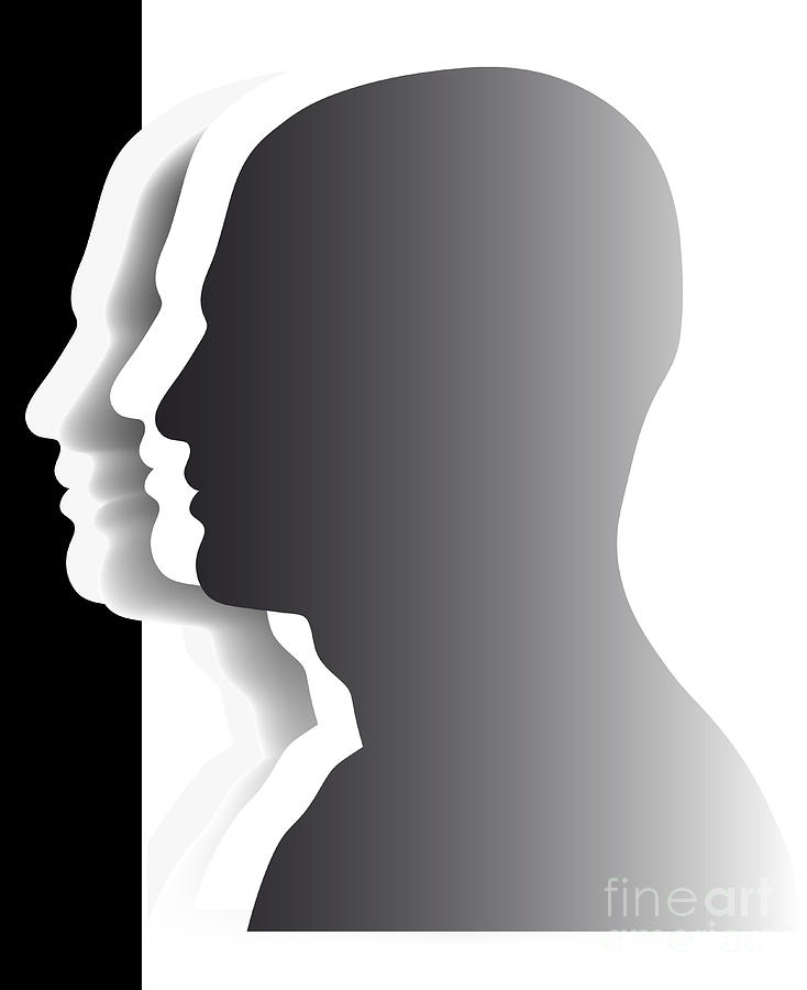 Crowd - Heads - Teamwork Digital Art  - Crowd - Heads - Teamwork Fine Art Print
