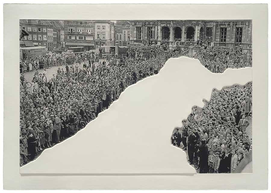 Relief - Crowds With Shape Of Reason Missing Example One by John Baldessari