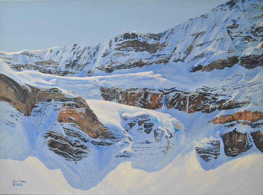 Crowfoot Glacier Painting  - Crowfoot Glacier Fine Art Print
