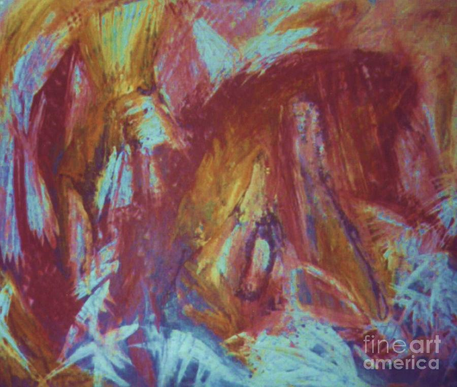 Abstract Painting - Crowman by Ann Fellows