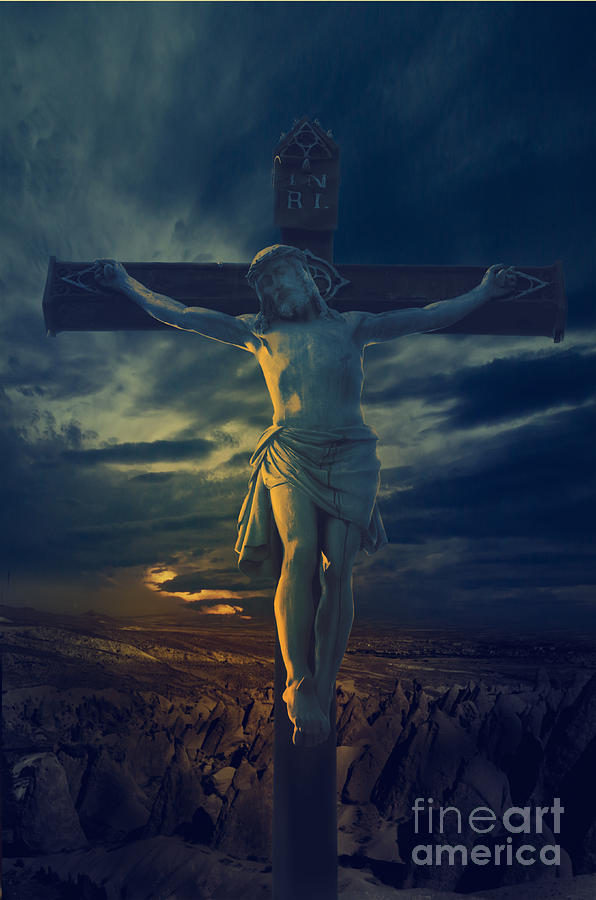 Jesus Digital Art - Crucifixcion by Jelena Jovanovic
