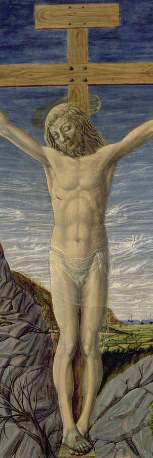Rock Painting - Crucifixion  by Master of the Barberini Panels