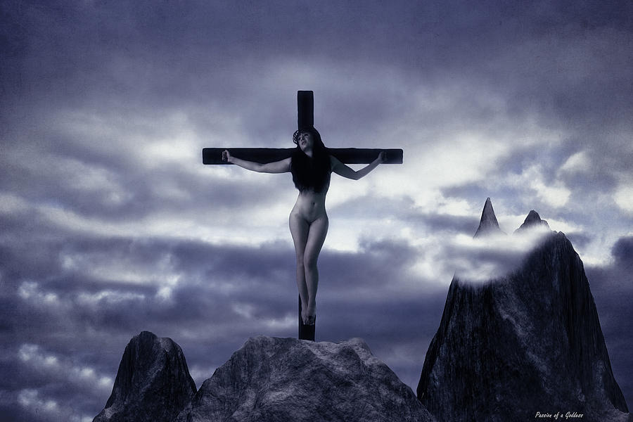 Crucifixion On The Mountain Photograph