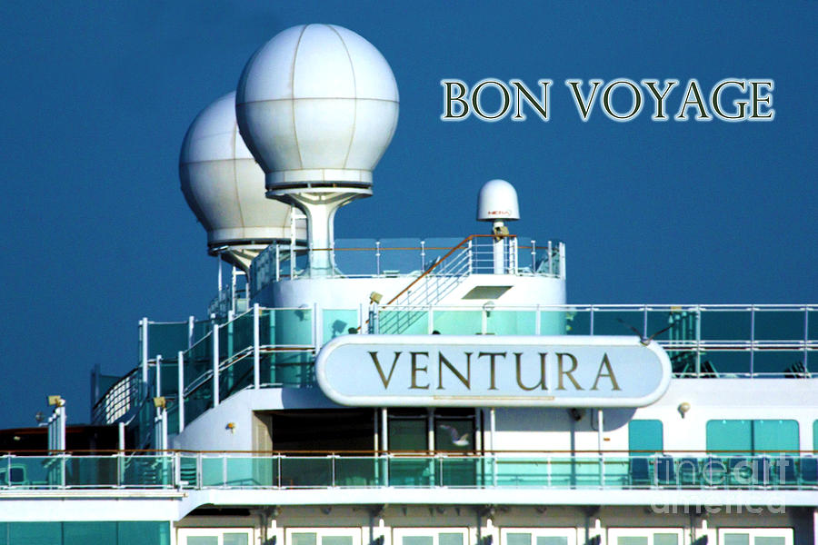 Ship Photograph - Cruise Ship Venturas Radar Domes by Terri Waters