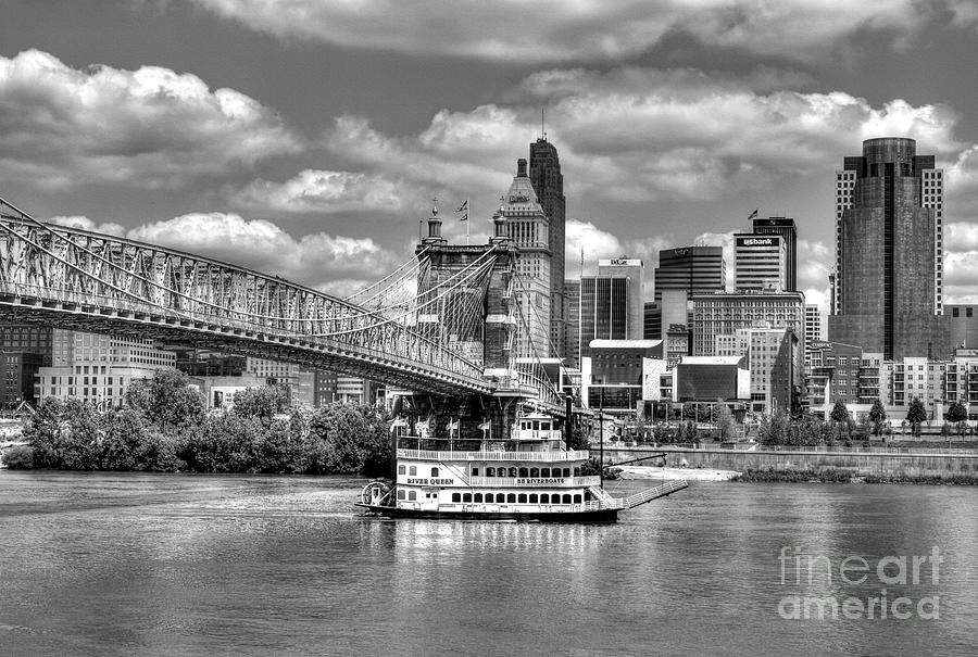 Cruising By Cincinnati 3 Bw Photograph  - Cruising By Cincinnati 3 Bw Fine Art Print