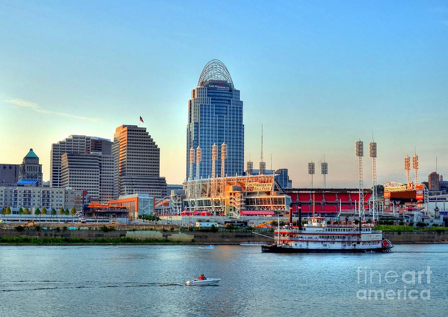 Cruising By Cincinnati Photograph  - Cruising By Cincinnati Fine Art Print