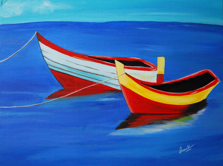 Boats Painting - Cruising On A Bright Sunny Day by Sonali Kukreja
