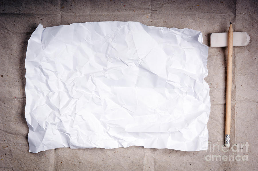 Crumpled Writing Paper Background Photograph by Tim Hester