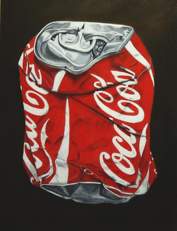 Crushed Beer Can Painting