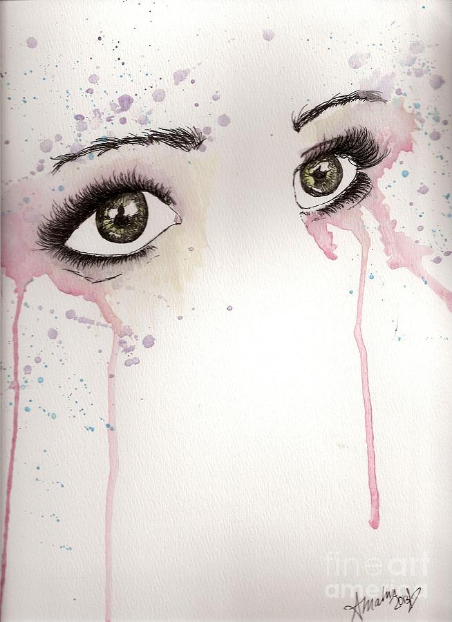 Eyes Crying Painting Crying Eyes Pain
