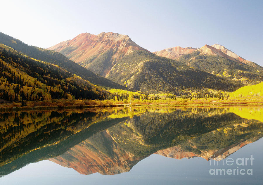Crystal Lake And Red Mountain Photograph  - Crystal Lake And Red Mountain Fine Art Print