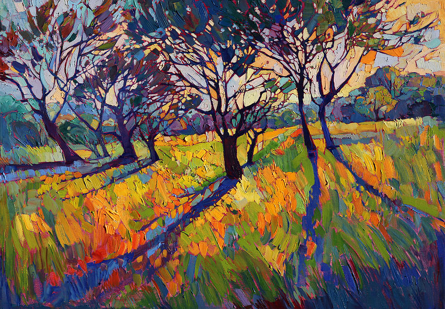Crystal light ii painting by erin hanson for Paintings of crystals