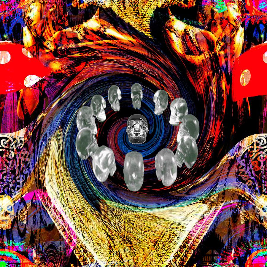 <a> Abstract Digital Art - Crystal Skulls by Jason Saunders