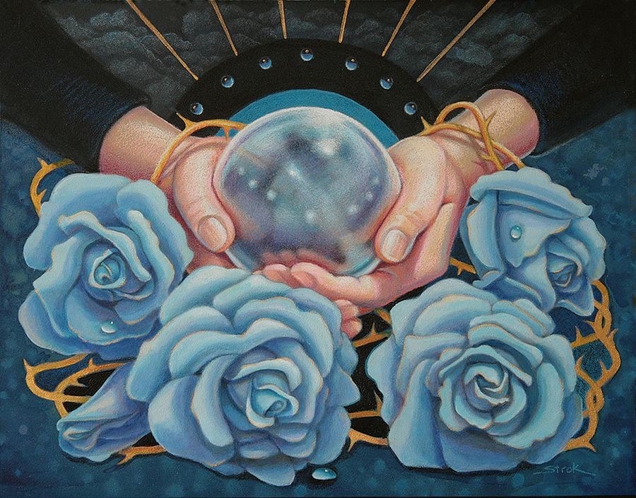 Blue Roses Mixed Media - Crystal Visions by Susan Helen Strok