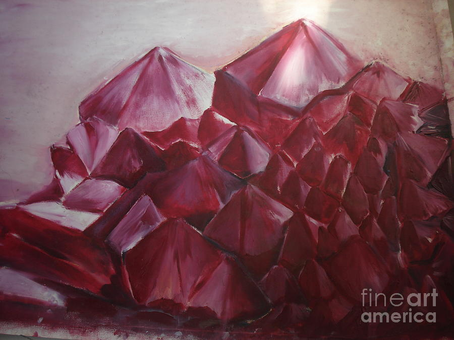 Crystals Digital Art  - Crystals Fine Art Print