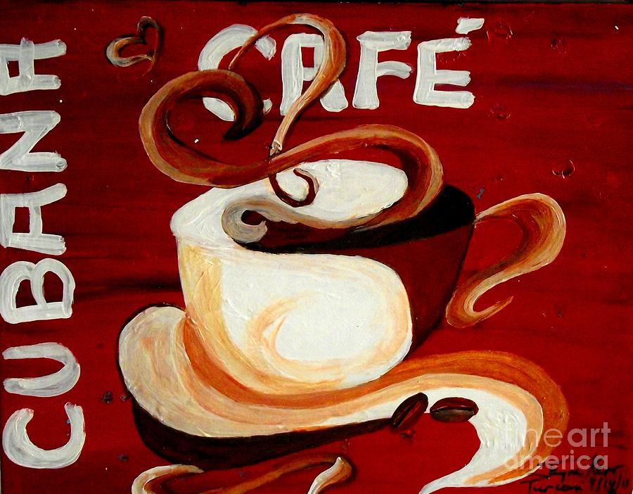 Coffee Canvas Print Painting - Cubana Cafe by Jayne Kerr