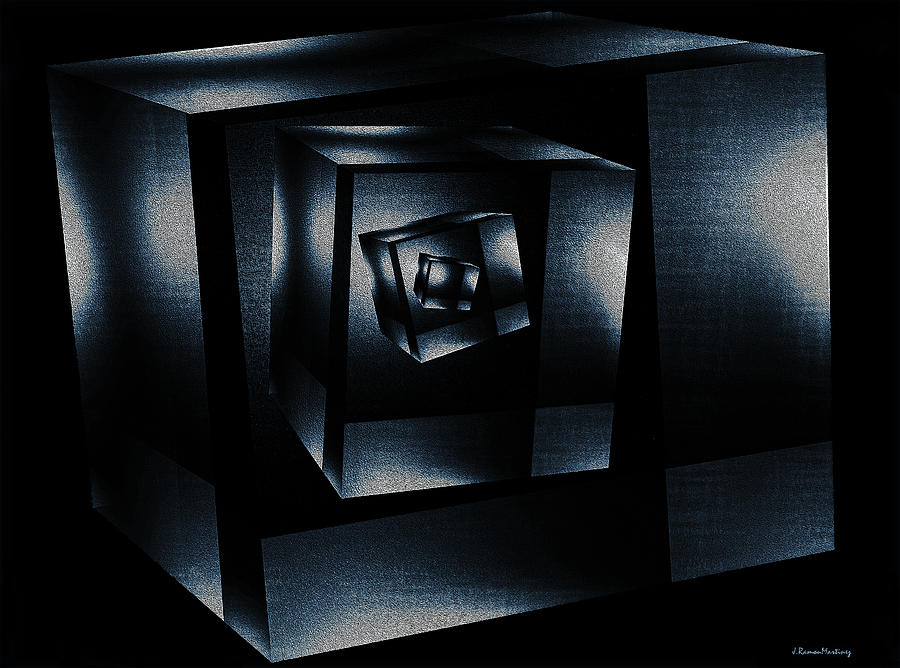 Cube In Cube Digital Art  - Cube In Cube Fine Art Print