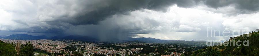 Cuenca Storm Panorama Photograph