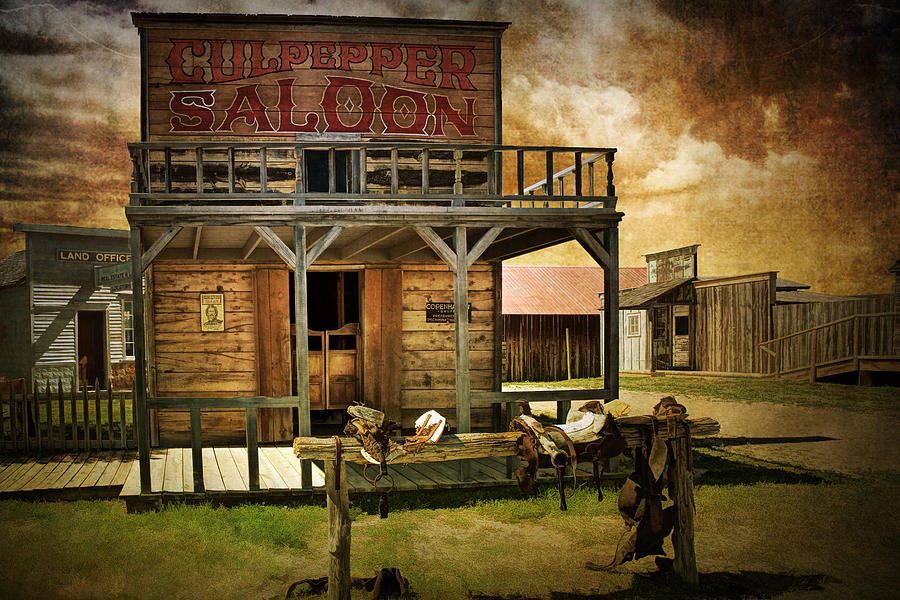 Culpepper western town saloon photograph by randall nyhof for Salon western