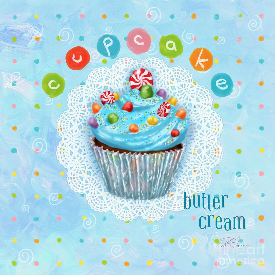 Cupcake Mixed Media - Cupcake-butter Cream by Shari Warren