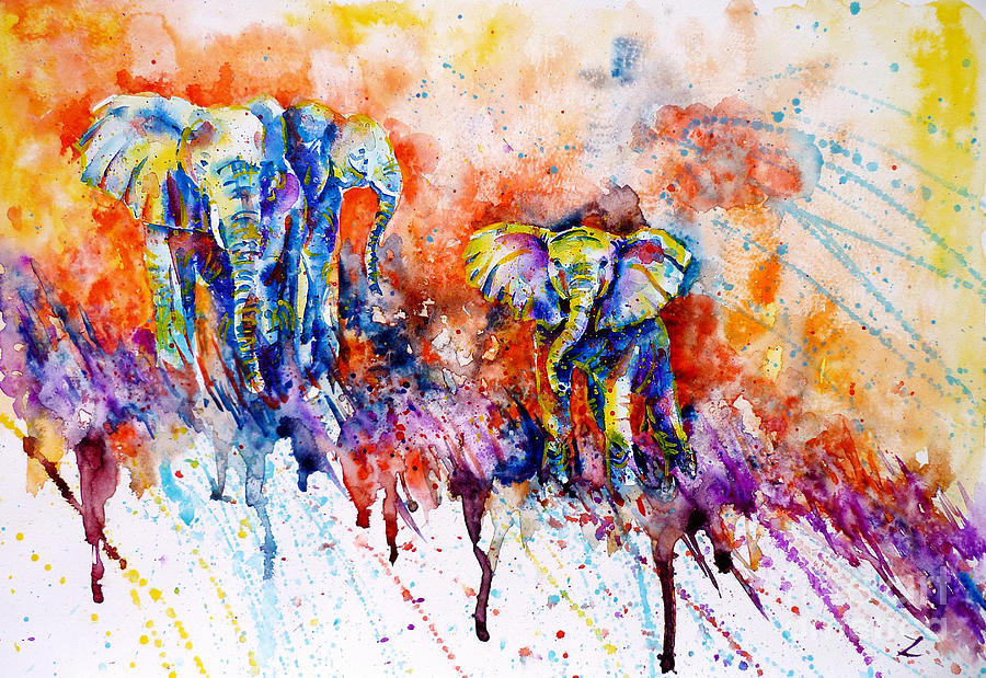 the gallery for colorful abstract elephant art. Black Bedroom Furniture Sets. Home Design Ideas