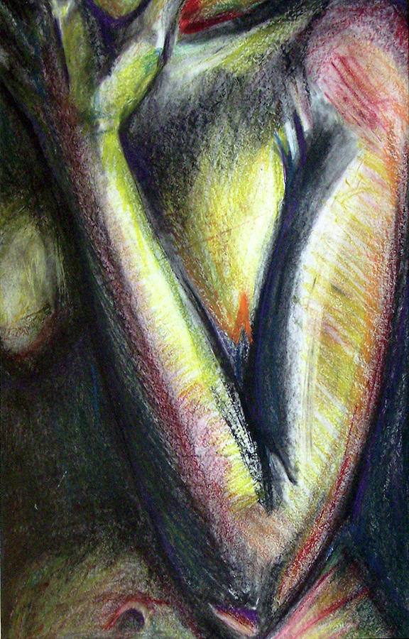 Abstract Pastel - Curious by Donovan Hubbard