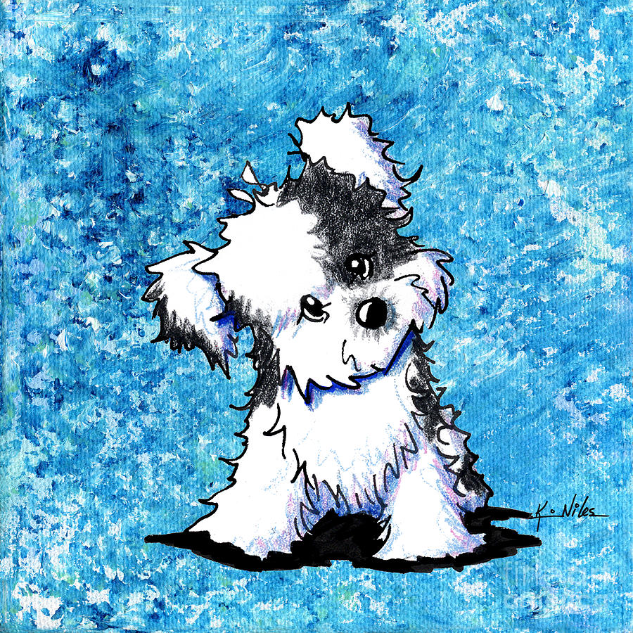 Curious Havanese Painting