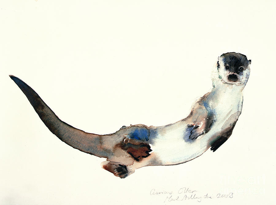 Curious Otter Painting...