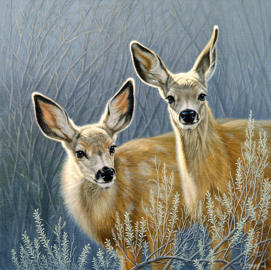 Curious Pair Painting