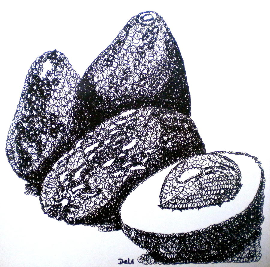 Curly Avocados Painting