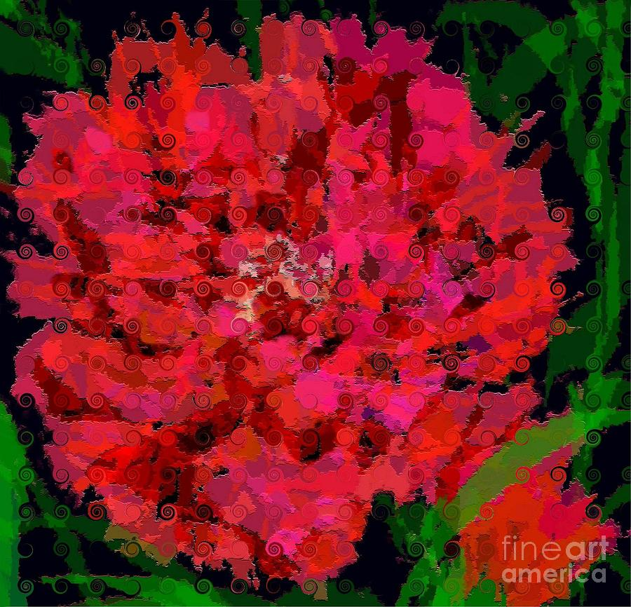 Curly Carnation Painting
