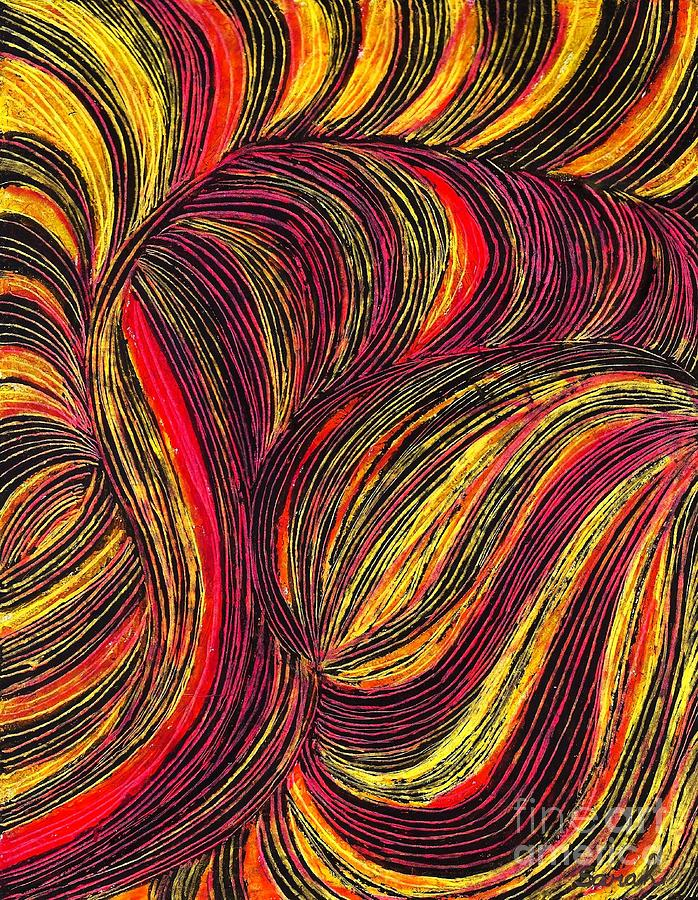 Curved Line Design Art : Curved lines drawing by sarah loft