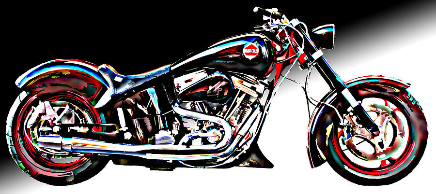 Custom Bike Study 1 Photograph  - Custom Bike Study 1 Fine Art Print