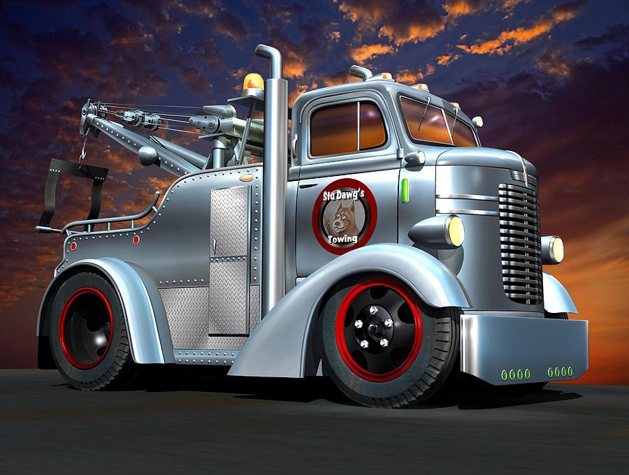 Custom Coe Trucks For Sale >> Custom Coe Tow Truck Digital Art by Stuart Swartz
