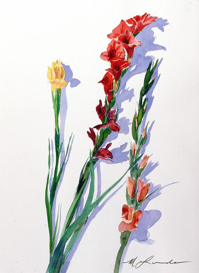 Cut Gladiols Painting