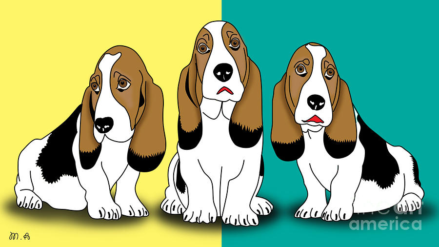 Cute Dogs  Digital Art  - Cute Dogs  Fine Art Print