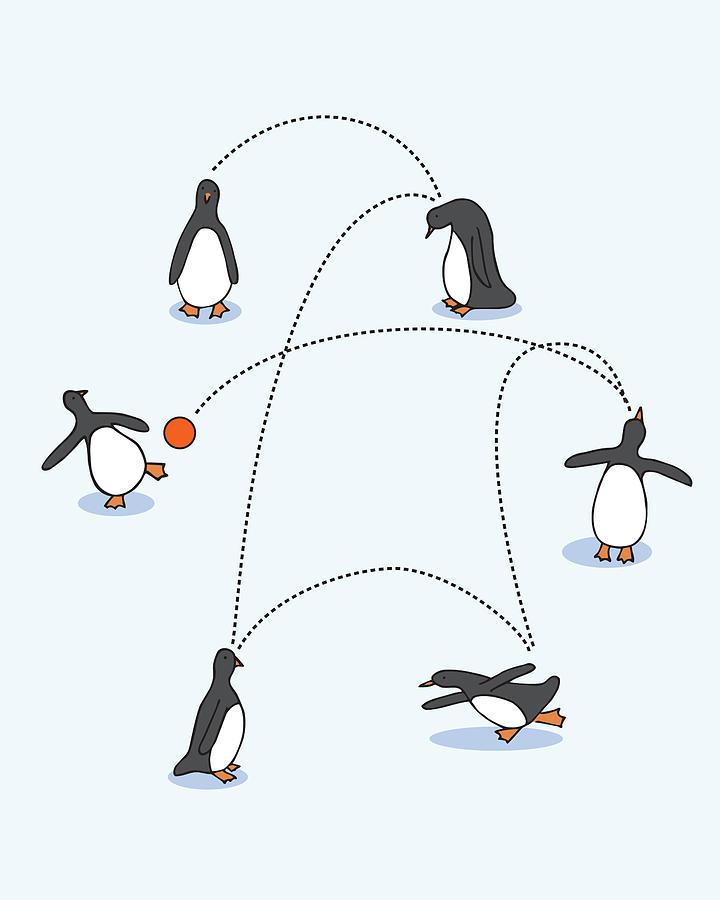 Cute Penguin Art Drawing