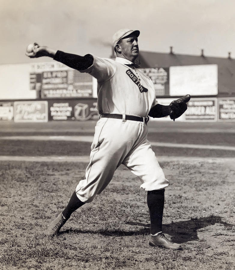 Cy Young - American League Pitching Superstar - 1908 Photograph  - Cy Young - American League Pitching Superstar - 1908 Fine Art Print