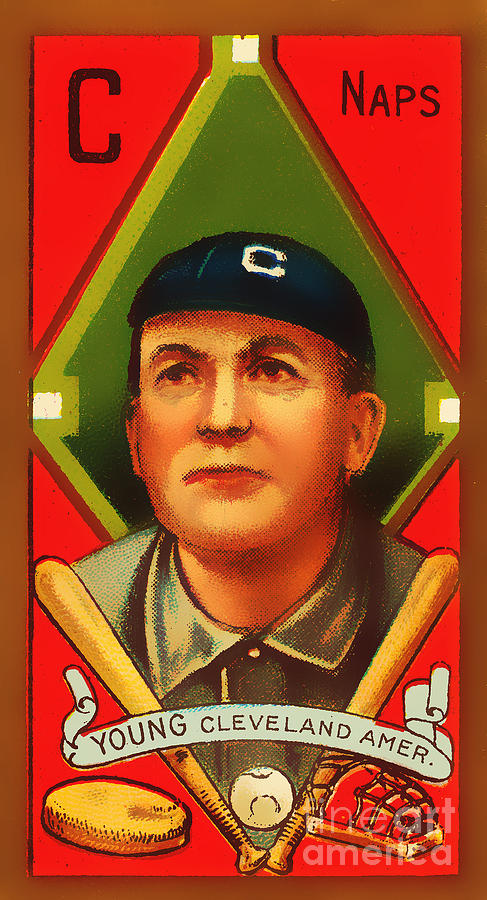 Cy Young Cleveland Naps Baseball Card 0838 Photograph